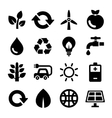 Ecology and recycle icons set vector