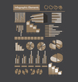 Negative color infographics vector
