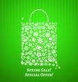 Shopping bag for spring sale vector