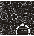 Discontinuous colored circles vector