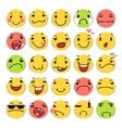 Cartoon smile icons set vector