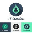 Flat minimalistic it or design studio logo vector