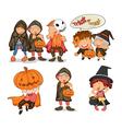 Halloween items vector