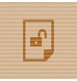 File unlocked icon symbol flat modern web design vector