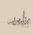 New york city engraving vector