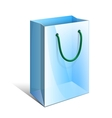 Blue paper bag with rope handles for gifts vector