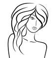 Stylish girl with luxurious hair vector
