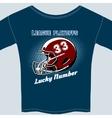 Blue football league play offs tee shirt vector