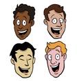 Various male cartoon faces vector