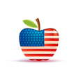 The usa flag in a big apple vector