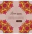 Invitation template vintage flowers lace ornament vector