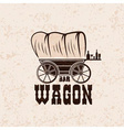 Wagon western bar grunge concept design template vector