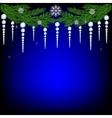 Christmas fir twig vector