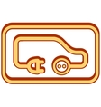 Electrical vehicle icon vector