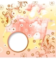 Watercolor modern background with frame vector