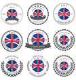 Made in the uk seals badges vector