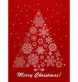 Christmas greeting card with fir tree vector