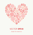 Decorative graphic heart with place for your text vector