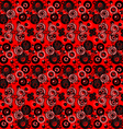 Red and black abstract background with circles vector