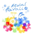 Aloha hawaii background vector