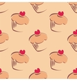 Tile cupcake pattern or sweet cake background vector