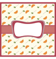 Frame with cocktail pattern vector