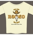 White rodeo tee shirt with graphics vector