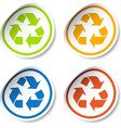Recycle stickers vector