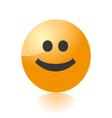 Smile emo icon vector