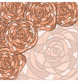 Background with abstract roses vector