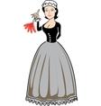 Victorian woman vector