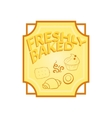 Fresh baked label vector