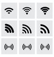 Wireless icon set vector