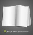 Open white book vector