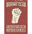 Sport club retro font vector