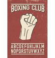 Sport club retro font vector