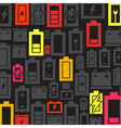 Battery a background vector