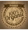 Organic label vector