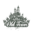 Old town  sketch artwork vector