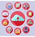 Cloud computing services and data sharing concept vector