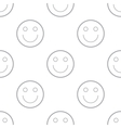 Smiling seamless pattern vector