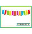 Colorful little flags on the card vector