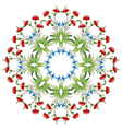 Ottoman art flowers twenty one vector