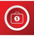 Dollar case icon on red vector