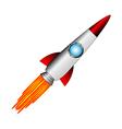Starting rocket on white vector