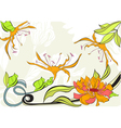Greeting vintage card with flowers vector