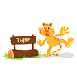 Tiger zoo sign vector