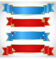 Christmas ribbons for text in retro style vector