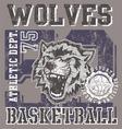 Wolves basketball team vector