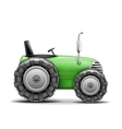 Green agricultural tractor vector